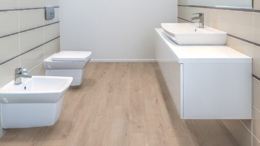 LA09 - ter Hürne Oak Light Beige Laminate Plank - Bathroom