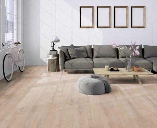 LA09 - ter Hürne Oak Light Beige Laminate Plank - Living Room
