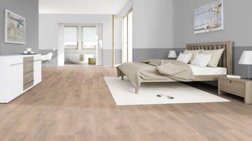 LA10 - ter Hürne Oak Sand Brown Laminate Plank - Bedroom
