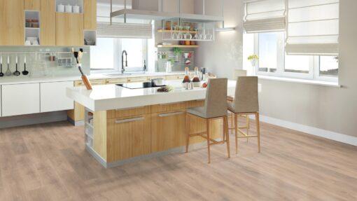 LA10 - ter Hürne Oak Sand Brown Laminate Plank - Kitchen