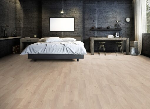 LB01 - ter Hürne Oak Cream Beige Laminate 2-Strip - Bedroom
