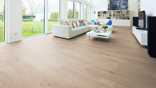 LB01 - ter Hürne Oak Cream Beige Laminate 2-Strip - LIving Room