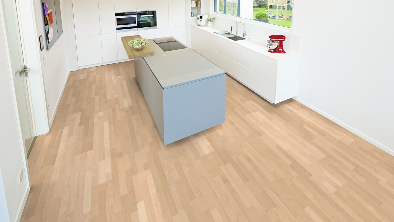 Ter H 252 Rne Maple Sand Beige Laminate 3 Strip Wood4floors