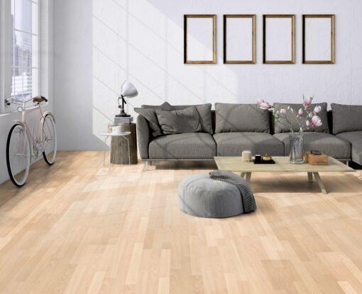 LB01a - ter Hürne Maple Sand Beige Laminate 3-Strip - Living Room