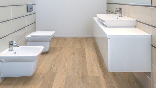 LB02 - ter Hürne Oak Pastel Beige Laminate Long Plank - Bathroom