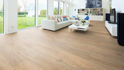 LB02 - ter Hürne Oak Pastel Beige Laminate Long Plank - Living Room