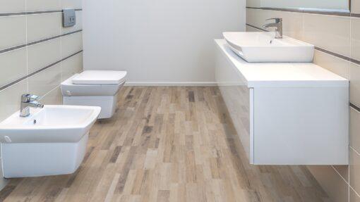 LB04 - ter Hürne Old Wood Mix Beige Laminate Multi Strip - Bathroom