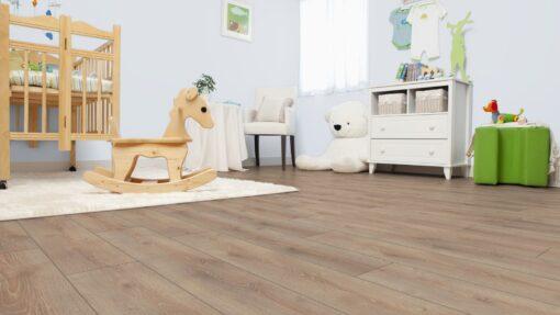 LB05 - ter Hürne Oak Light Brown Laminate Wide Plank - Bedroom