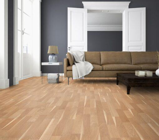 LB05a - ter Hürne Oak Sapwood Beige Laminate 3-Strip - Living Room
