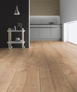 Ter Hürne Oak Berland Pale Brown, Wide Plank Laminate Hardwood Flooring