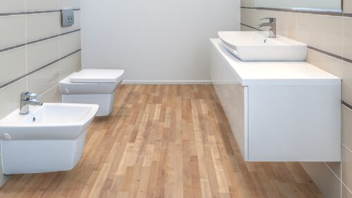 LB06a - ter Hürne Oak Sierra Brown Laminate 3-Strip - Bathroom