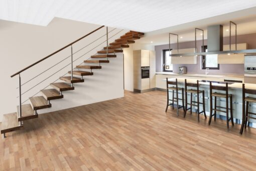 LB06a - ter Hürne Oak Sierra Brown Laminate 3-Strip - Kitchen