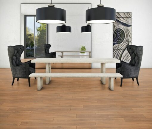 LB08 - ter Hürne Oak October Brown Laminate Plank - Living Room