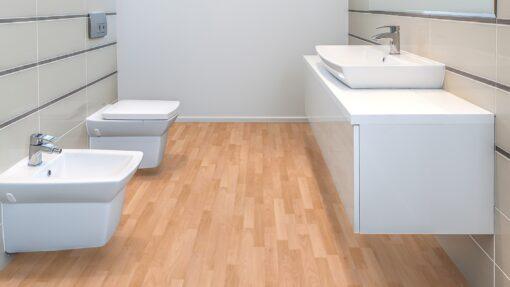 LB08a - ter Hürne Beech Rosé Beige Laminate 3-Strip - Bathroom
