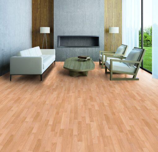 LB08a - ter Hürne Beech Rosé Beige Laminate 3-Strip - Living Room
