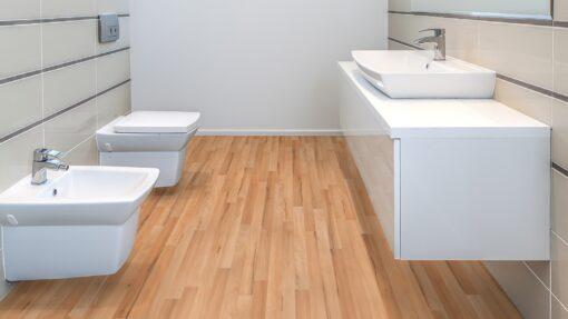 LB09a - ter Hürne Beech Peach Beige Laminate 3-Strip - Bathroom