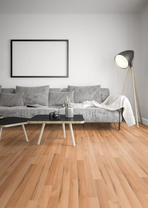LB09a - ter Hürne Beech Peach Beige Laminate 3-Strip - Living Room