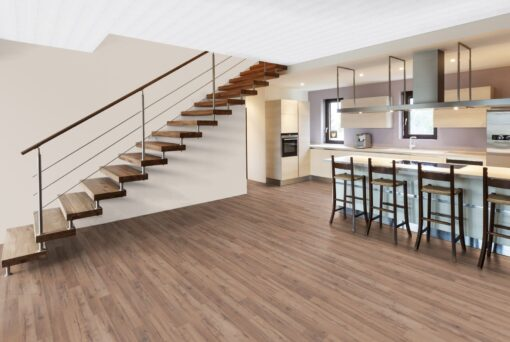LB10 - ter Hürne Oak Siena Brown Laminate 2-Strip - Kitchen