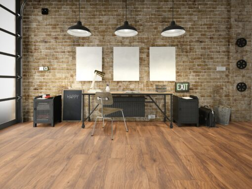 LB11 - ter Hürne Chestnut Sepia Brown Laminate Long Plank - Living Room