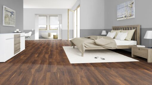 LB12 - ter Hürne Chestnut Velvet Brown Laminate Long Plank - Bedroom