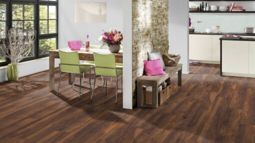 LB12 - ter Hürne Chestnut Velvet Brown Laminate Long Plank - Kitchen