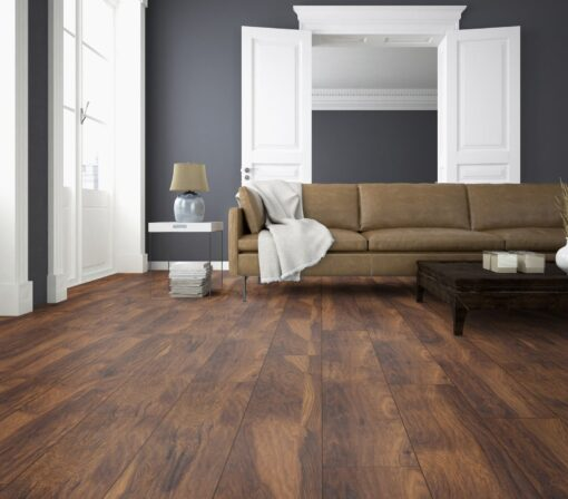 LB12 - ter Hürne Chestnut Velvet Brown Laminate Long Plank - Living Room