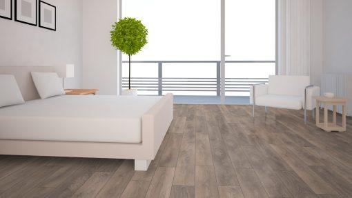 LD02 - ter Hürne Oak Grey Beige Laminate Plank - Bedroom