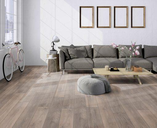 LD02 - ter Hürne Oak Grey Beige Laminate Plank - Living Room