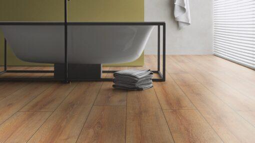 LD04 - ter Hürne Oak Brass Brown Laminate Long Plank - Bathroom