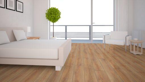 LD04 - ter Hürne Oak Brass Brown Laminate Long Plank - Bedroom