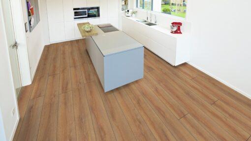 LD04 - ter Hürne Oak Brass Brown Laminate Long Plank - Kitchen