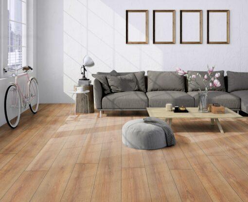 LD04 - ter Hürne Oak Brass Brown Laminate Long Plank - Living Room