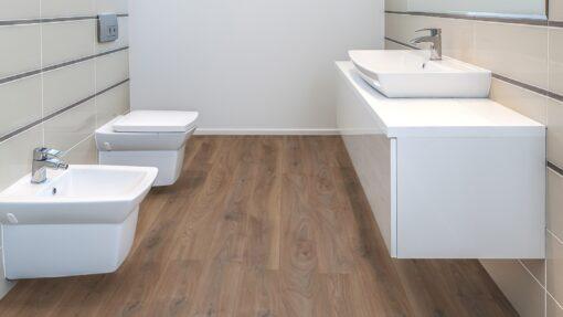 LD07 - ter Hürne Oak Reed Brown Laminate Long Plank - Bathroom