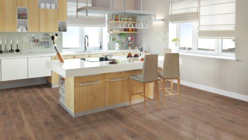LD07 - ter Hürne Oak Reed Brown Laminate Long Plank - Kitchen
