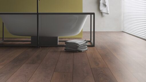 LD08 - ter Hürne Oak Coffee Brown Laminate Long Plank - Bathroom