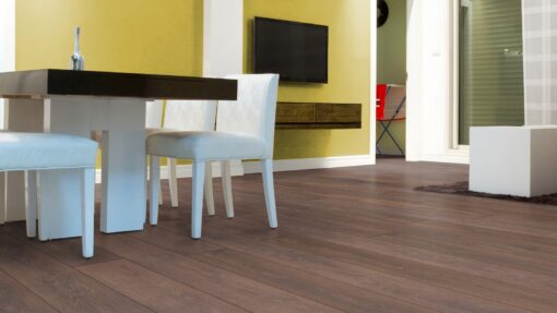 LD08 - ter Hürne Oak Coffee Brown Laminate Long Plank - Kitchen