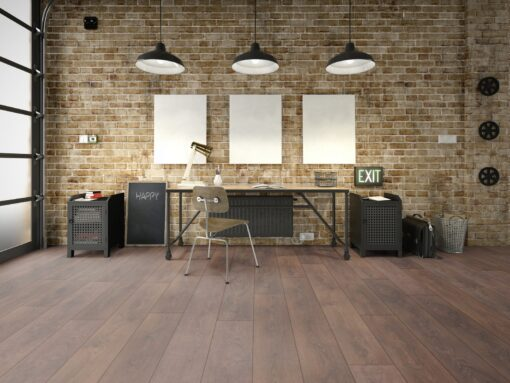 LD08 - ter Hürne Oak Coffee Brown Laminate Long Plank - Living Room