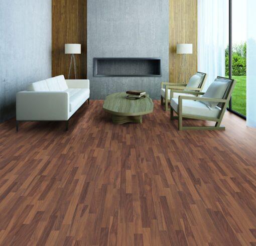LD08a - ter Hürne Walnut Contrast Brown Laminate 3-Strip - Living Room