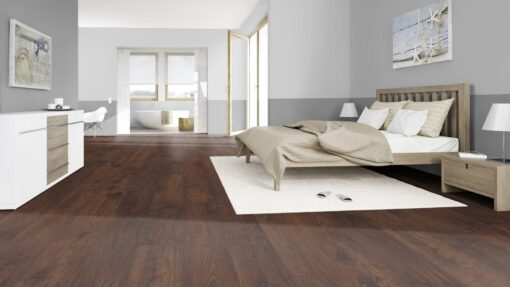 LD10 - ter Hürne Chestnut Chocolate Brown Laminate Long Plank - Bedroom