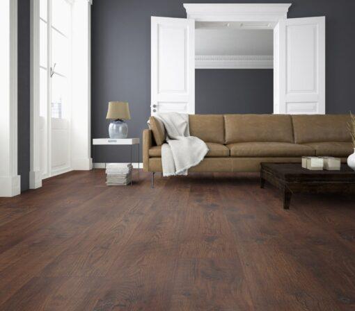 LD10 - ter Hürne Chestnut Chocolate Brown Laminate Long Plank - Living Room