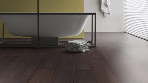 LD12 - ter Hürne Oak Deep Brown Laminate Plank - Bathroom