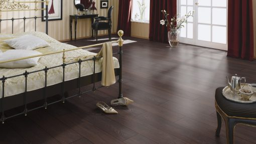 LD12 - ter Hürne Oak Deep Brown Laminate Plank - Bedroom