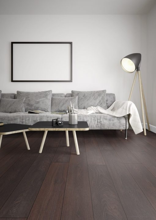 LD12 - ter Hürne Oak Deep Brown Laminate Plank - Living Room