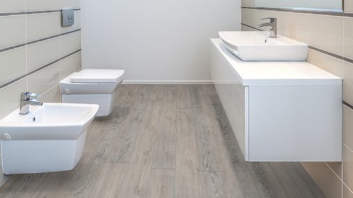 LE03 - ter Hürne Oak Rock Grey Laminate Long Plank - Bathroom
