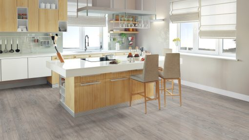 LE03 - ter Hürne Oak Rock Grey Laminate Long Plank - Kitchen