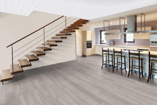 LE04 - ter Hürne Oak Silver Grey Laminate Plank - Kitchen