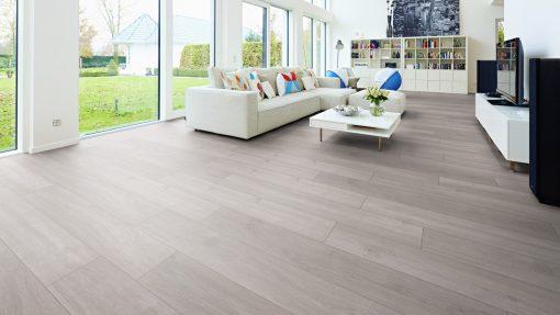 LE04 - ter Hürne Oak Silver Grey Laminate Plank - Living Room