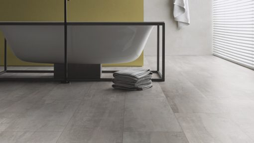 LE05 - ter Hürne Cement Look Light Grey Laminate Tile - Bathroom