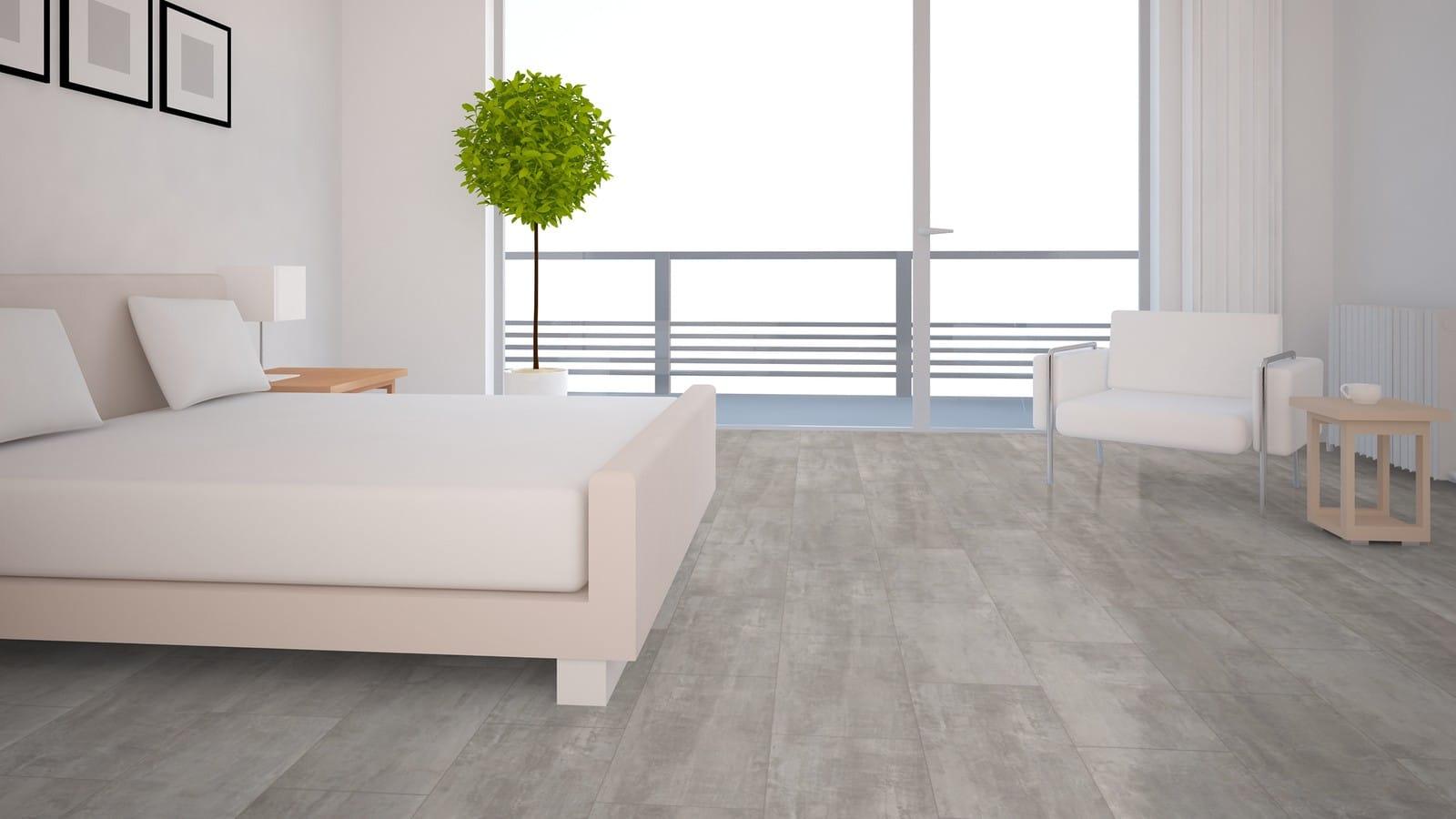 ter Hürne Cement Look Light Grey Laminate Tile - Wood12Floors