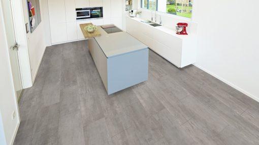 LE05 - ter Hürne Cement Look Light Grey Laminate Tile - Kitchen